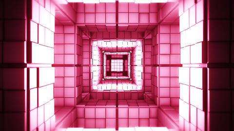 4K Science Fiction Minimalist Creepy Cube Labyrinth Flythrough Fantasy 3D Ani Animation