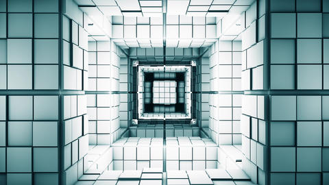 4K Science Fiction Minimalist Cube Labyrinth Flythrough Fantasy 3D Animation Animation