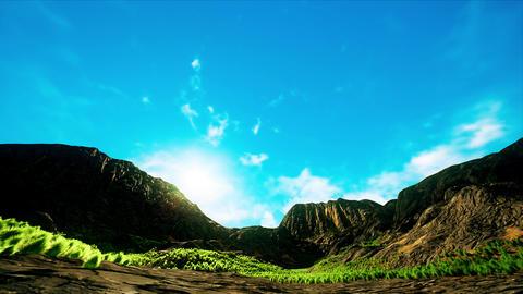 4K Rocky Highland Landscape Daytime Hyperlapse Wide Angle 3D Animation Animation