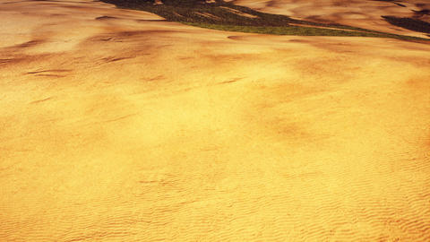Aerial View of a Semidesert and Arid Mountains Area 3D Animation 1 Animation