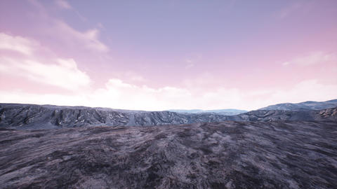 4K Surrealistic Rocky Terrain Landscape 3D Animation Animation