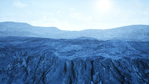 Fantasy Frozen Wilderness Rocky Terrain 3D Animation Animation