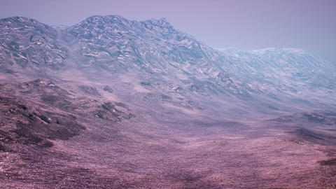 Extraterrestrial Terrain Surrealistic Landscape 3D Animation, Stock Animation