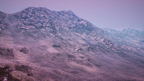 Extraterrestrial Terrain Surrealistic Landscape 3D Animation Stock Video Footage