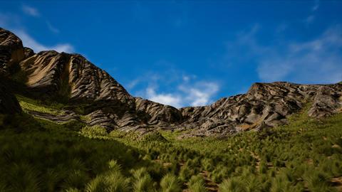 Semi Desert Shrublands in Arid Scattered Mountains Vertigo 3D Animation Animation