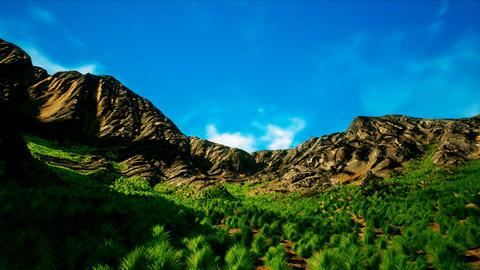 Summer Shrublands in Arid Scattered Mountains Vertigo 3D Animation Animation