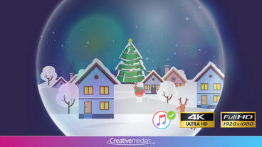 Snow Globe Reveal II - Apple Motion and Final Cut Pro X Template Apple Motion Template