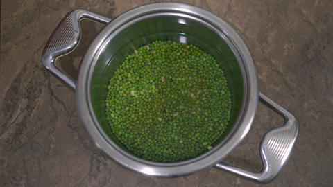 Soaking Mung Bean In Water, Before Cooking Footage