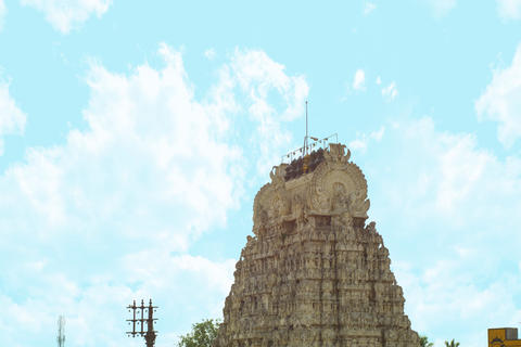 The roof of a hindu temple フォト