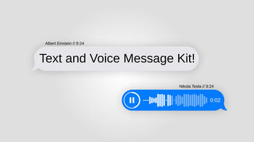 Text Message with Voice kit After Effects Template
