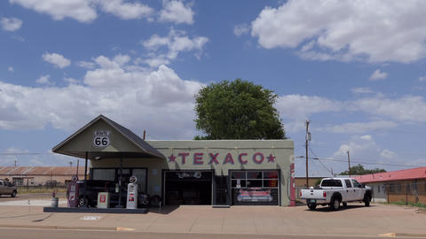 3 American Gas Station On Route 66 Tucumcari New Mexico Live Action