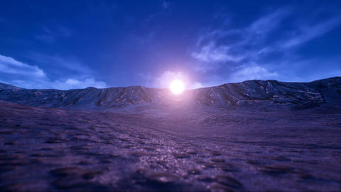 Rigid Rocky Natural Environment Sunset 3D Animation Animation