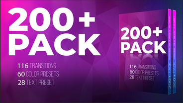 200 + Pack Transition Color Text Presets ME Premiere Proテンプレート