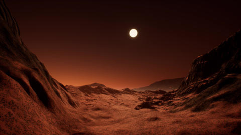 4K Alien Red Planet Cinematic 3D Animation 1 Animation