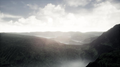 4K Cinematic Aerial View of a Massive Highland Landscape 3D Animation Animation