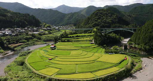 As for the 'aragijima (terraced paddy field) in Wakayama,' which was selected as ビデオ