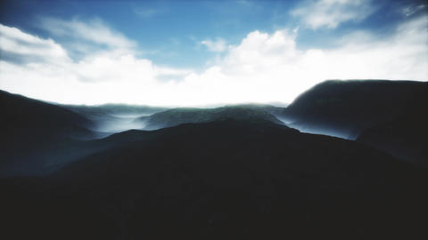 4K Cinematic Aerial Surrealistic View of Highlands 3D Animation Animation