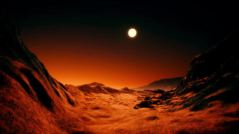 4K Extraterrestrial Red Planet Cinematic 3D Animation 1 Animation