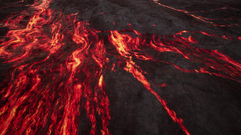 4K Extreme Molten Rock Aerial Cinematic 3D Animation Animation