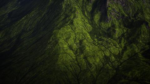 4K Green Grassy Highland Cinematic Aerial 3D Animation Animation