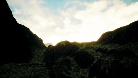 4K Misty Highlands Aerial 3D Animation Animation