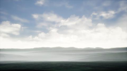 4K Misty Landscape Clouds Timelapse 3D Animation Animation