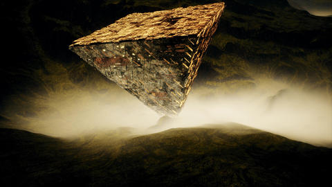 4K Mysterious Upside Down Pyramid Fantasy Cinematic 3D Animation Animation