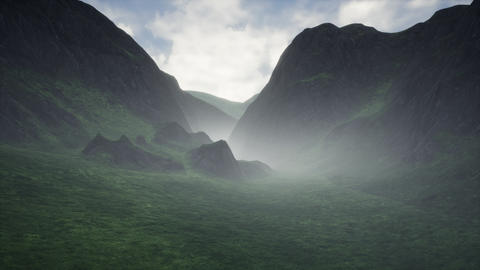 4K Mysterious Valley Cinematic 3D Animation Stock Video Footage