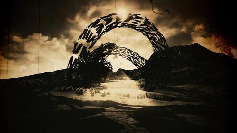 4K Strange Alien Shape in an Arid Landscape Fantasy... Stock Video Footage