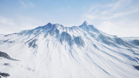 4K Aerial Shot of a High Altitude Rocky Mountain Peak Cinematic 3D Animation Animation