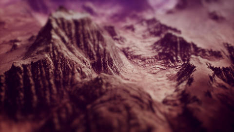 4K Aerial View of a Rocky Canyon Landscape Cinematic Tilt Shift 3D Animation Animation