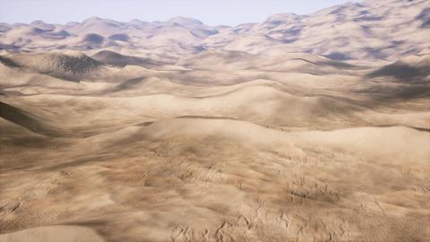 4K Camera Pans Over a Massive Sandy Desert Cinematic 3D Animation Animation