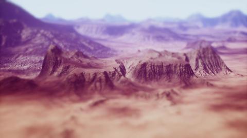 4K Eroded Rocky Desert Landscape Cinematic Tilt Shift 3D Animation Animation