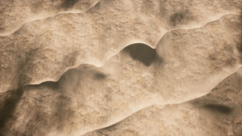 4K High Altitude Aerial View of Sand Ripples in a Desert Cinematic 3D Animati Animation