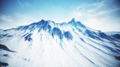 4K High Altitude Rocky Mountain Peak Cinematic Aerial 3D Animation Animation