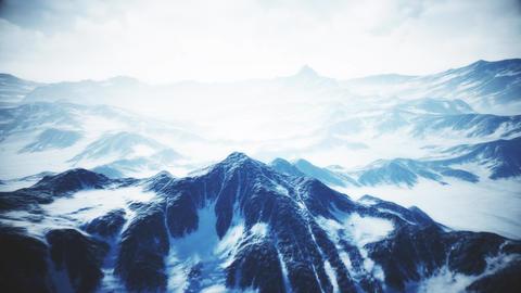 4K Wild Frozen Mountain Landscape Cinematic Aerial 3D Animation Animation