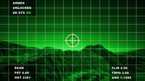4K Military Surveillance in Mountains Aerial Cinematic 3D Animation Animation