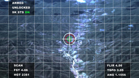 4K Military Surveillance Searching Target over Mountains Aerial Cinematic 3D Animation