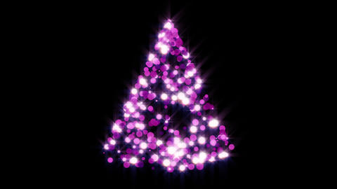 Glowing Christmas Tree Overlay Animation