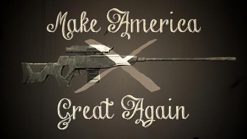 USA Gun Prohibition Ban Guns Vintage Animation Animation