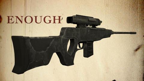 USA Gun Prohibition Enough of Guns Vintage Animation Animation