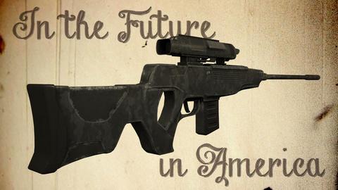USA Gun Prohibition Future America No More Guns Vintage Animation Animation