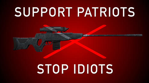 USA Gun Prohibition Support Patriots Stop Idiots Animation Animation