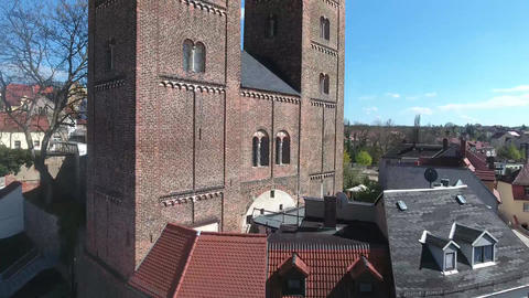 Rote Spitzen Altenburg medieval town red towers Footage