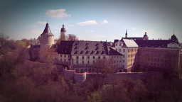 Castle Altenburg Germany mediecal town Footage