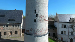 Castle Altenburg Germany mediecal town Footage