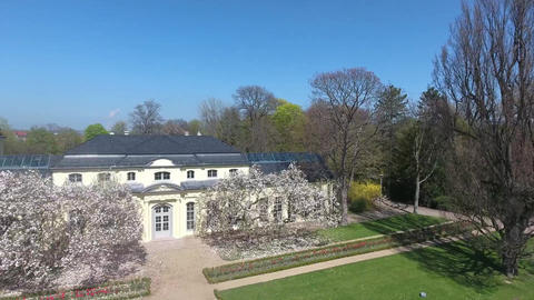 Teahouse of the castle at Altenburg summer spring green Footage