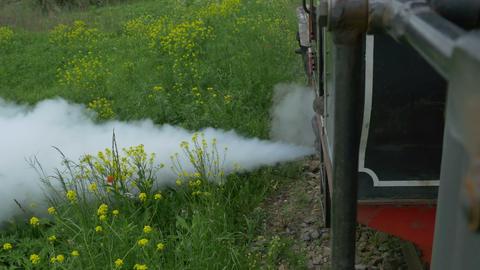 Evacuating Steam Vintage Locomotive Footage
