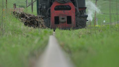Vintage Steam Locomotive Approaching Footage