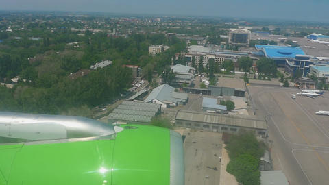 Almaty airport aerial view Footage